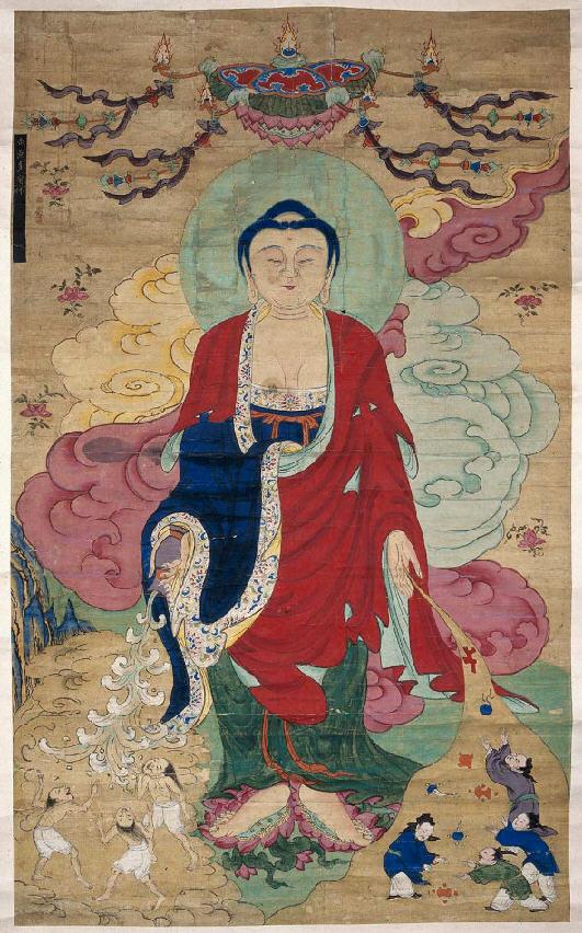 美国波士顿艺术博物馆藏朝鲜时代佛画 多宝如来像